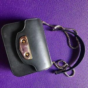 Balenciaga black chain cross bag